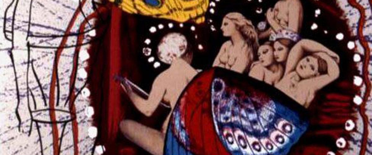 Card from Salvador Dali-illustrated tarot deck