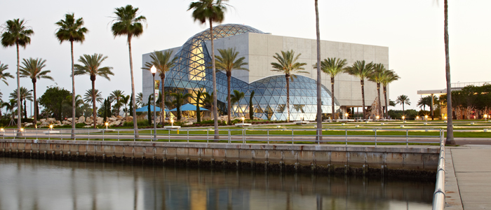Waterfront View of The Dalí Museum