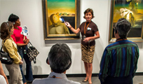 a docent giving a tour