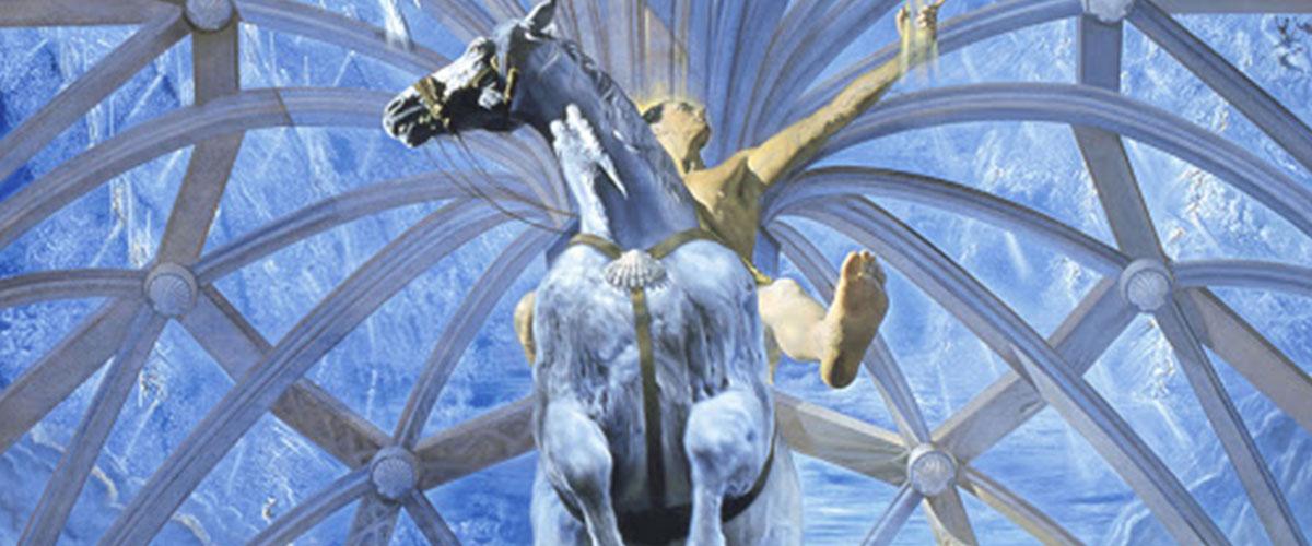 "Detail from Salvador Dali's painting ""Santiago El Grande"""