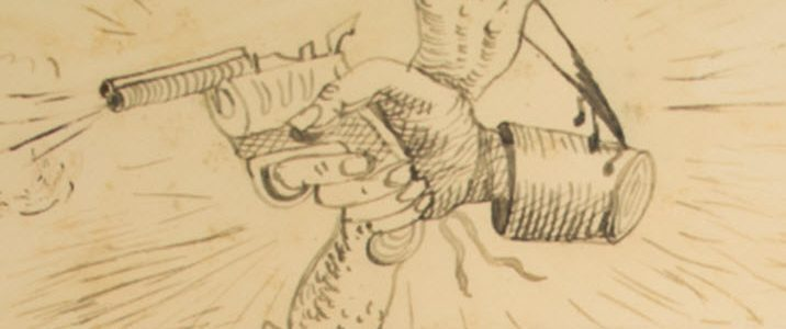 detail from a exquisite corpse drawing