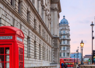 A street view of London, England