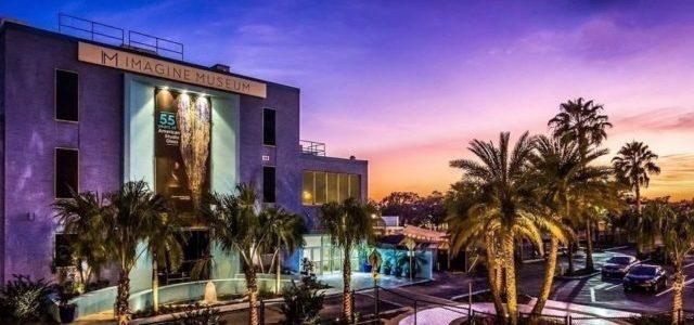 Imagine Museum exterior at night