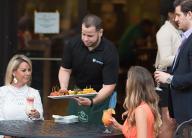 Sidewalk cafe diners