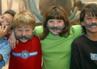 Kids with mustaches