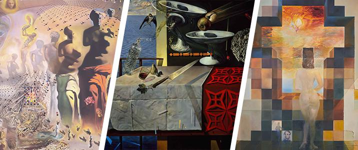 details from three Dali masterworks