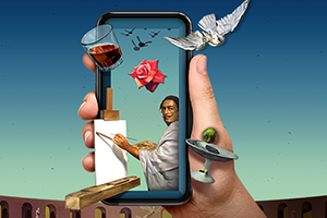 Dali viewed on a mobile device