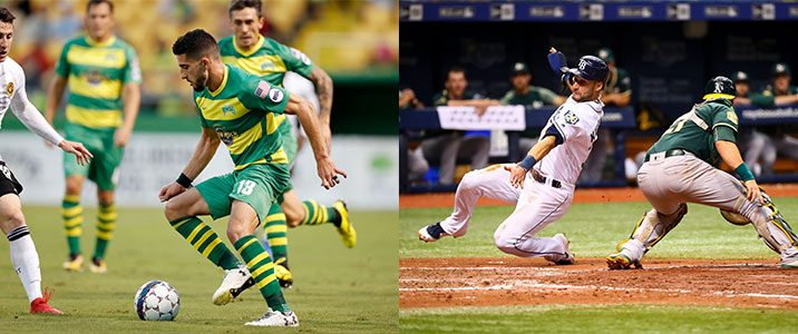 Rowdies and Rays play