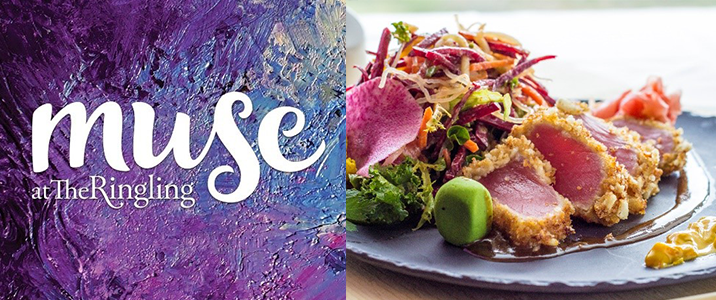 Muse logo and food