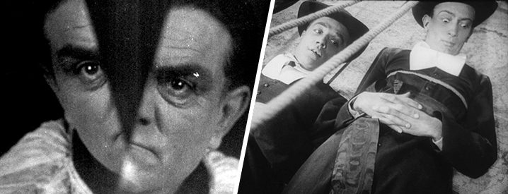 Stills from The Seashell & the Clergymen and Un Chien Andalou