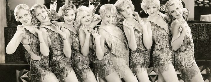 Chorus girls photograph, detail