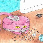 Roomba Cat by Sara Goldscheiderova