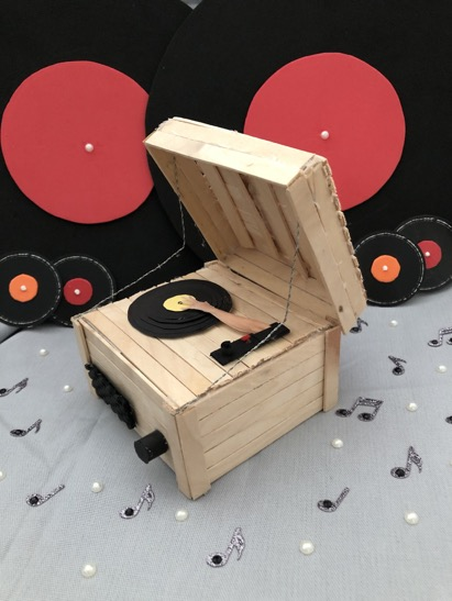 Natalie Canella Eerie Record Player