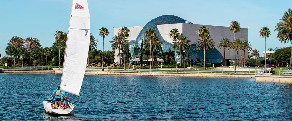 Waterfront view of The Dali Museum
