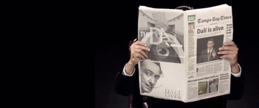 Still Dali Lives Artificial Intelligence Experience, Salvador Dali read Tampa Bay Times