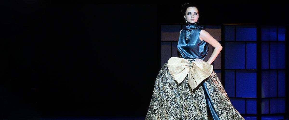 Teen fashion design on runway