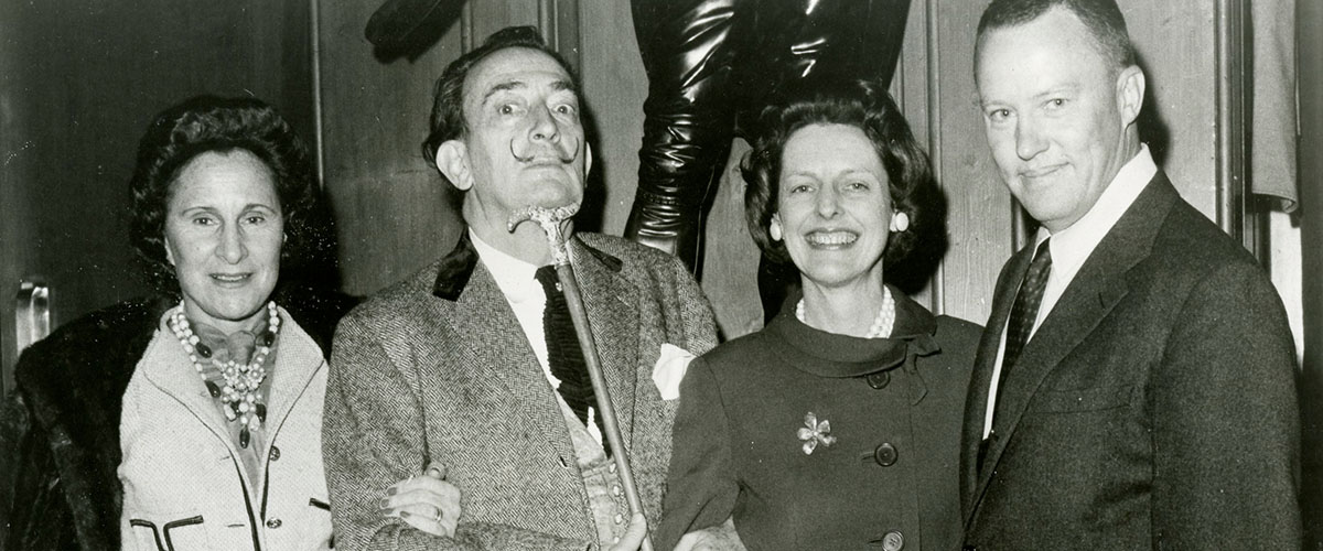 Salvador Dali with Dali Museum founders A. Reynolds & Eleanor Morse
