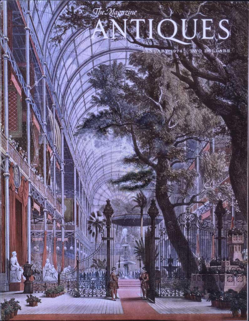 Antiques magazine cover,1974