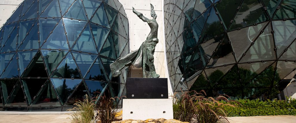Dali's Terpsichore Sculpture in the Dali Museum Avant-garden
