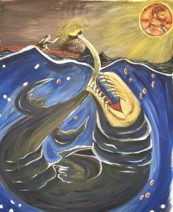 The Dali Museum's 2021 Student Surrealist Exhibit Online: Pinellas, Artwork by Angelina Lopez Fever Dream of Gold Gibbs High Teacher: Stephanie McKee Grade 10