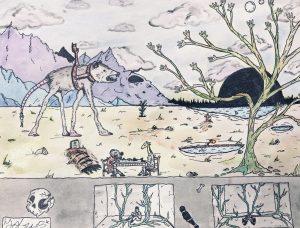 The Dali Museum's 2021 Student Surrealist Exhibit Online: Pinellas, Artwork by Tobias Bates Penink Northeast High Teacher: Kevin Olis Grade 9