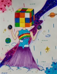 The Dali Museum's 2021 Student Surrealist Exhibit Online: Pinellas, Artwork by Madison Brodie Puzzled Pinellas Park Middle Teacher: Sandra Robinette Grade 7