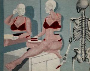 The Dali Museum's 2021 Student Surrealist Exhibit Online: Pinellas, Artwork by Janeva Buczynski A Slice Of Red Velvet Waist East Lake High Teacher: Eileen Iacobucci Grade 12