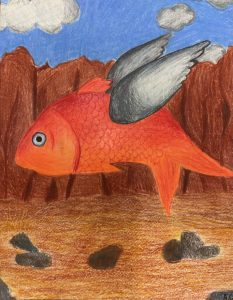 The Dali Museum's 2021 Student Surrealist Exhibit Online: Pinellas, Artwork by Alaina Campagna Evolution Carwise Middle School Teacher: Lori Manning Grade 8