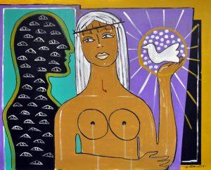 Dali Dozen John Gasgot work entitled Mothers Burden