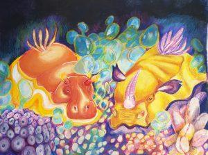 The Dali Museum's 2021 Student Surrealist Exhibit Online: Pinellas, Artwork by Elise Tuttle Gummies Gibbs High Teacher: Stephanie McKee Grade 10