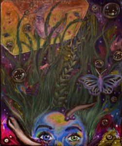 The Dali Museum's 2021 Student Surrealist Exhibit Online: Pinellas, Artwork by Lauren Fornshell Interspacial Mental Aquarium Clearwater High Teacher: Clayton Burkey Grade 11