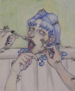 The Dali Museum's 2021 Student Surrealist Exhibit Online: Pinellas, Artwork by Gianna Gabor Scrumptious Surprise Osceola Fundamental High Teacher: Julianna Guccione Grade 9