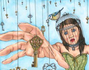 The Dali Museum's 2021 Student Surrealist Exhibit Online: Pinellas, Artwork by Luna Garcia The Escape East Lake High Teacher: Eileen Iacobucci Grade 11