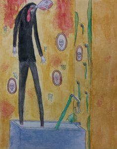 The Dali Museum's 2021 Student Surrealist Exhibit Online: Pinellas, Artwork by Jayla Higdon Off The Wall Hopkins Middle Teacher: Krista Schilling Grade 7