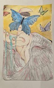 The Dali Museum's 2021 Student Surrealist Exhibit Online: Pinellas, Artwork by Melinda Iliz Divine Resurrection Madeira Beach Fundamental Teacher: Kurt Schuster Grade 7