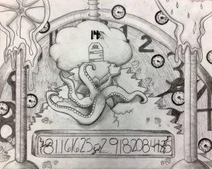 The Dali Museum's 2021 Student Surrealist Exhibit Online: Pinellas, Artwork by Kara Komerska My Birthday Carwise Middle School Teacher: Lori Manning Grade 8