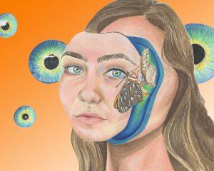 The Dali Museum's 2021 Student Surrealist Exhibit Online: Pinellas, Artwork by Samantha Neely Internal Dialogue Gibbs High Brian McAllister Grade 11