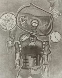 The Dali Museum's 2021 Student Surrealist Exhibit Online: Pinellas, Artwork by Trinity Parsons Robot Workshop Dunedin High Teacher: Sal Gulino Grade 10