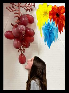 The Dali Museum's 2021 Student Surrealist Exhibit Online: Pinellas, Artwork by Peyton Pilkington The Wilting Of Flowers Dripping Through The Grape Vine Thurgood Marshall Fund Middle Teacher: Peter Hynes Grade 8