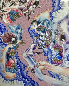 The Dali Museum's 2021 Student Surrealist Exhibit Online: Pinellas, Artwork by Aaron Pope Finger Lickin' Good Gibbs High Teacher: Brian McAllister Grade 11