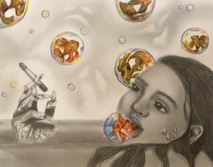 The Dali Museum's 2021 Student Surrealist Exhibit Online: Pinellas, Artwork by Delaney Rosson Open Your Mind East Lake High Teacher: Rob Golombek Grade 11