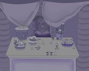The Dali Museum's 2021 Student Surrealist Exhibit Online: Pinellas, Artwork by Sierra Stone Funeral Queen Tarpon Springs High Teacher: Jessica Marmorale Grade 11