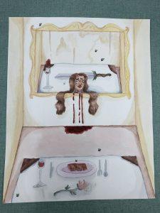 The Dali Museum's 2021 Student Surrealist Exhibit Online: Pinellas, Artwork by Olivia Tucker Pick Your Brain Madeira Beach Fundamental Teacher: Kurt Schuster Grade 8