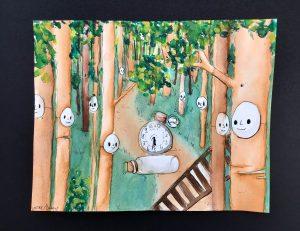 The Dali Museum's 2021 Student Surrealist Exhibit Online: Pinellas, Artwork by Delaney Vessey The Path Tarpon Springs Middle Teacher: Gabrielle Medina Grade 7