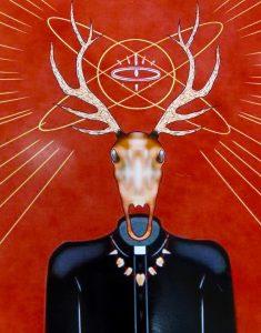 The Dali Museum's 2021 Student Surrealist Exhibit Online: Pinellas, Artwork by Elizabeth Young Nightmares of the Deer Skull! Osceola Middle Teacher: Dwayne Shepherd Grade 8