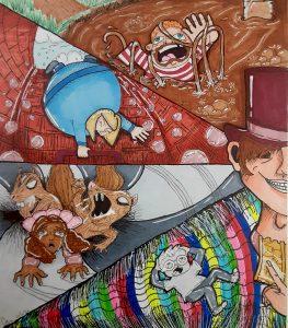 The Dali Museum's 2021 Student Surrealist Exhibit Online: Pinellas, Artwork by Caitey Ahern Golden Ticket Remix Tarpon Springs High Teacher: Jessica Marmorale Grade 12