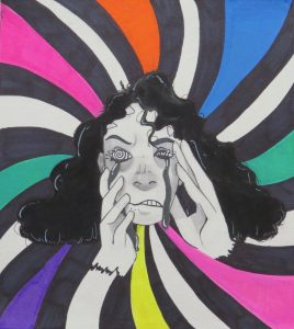 The Dali Museum's 2021 Student Surrealist Exhibit Online: Pinellas, Artwork by Anabella Garnica Confusion Dunedin Middle School Teacher: Karen Santangelo Grade 7