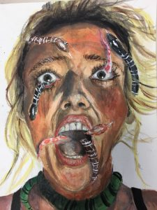 The Dali Museum's 2021 Student Surrealist Exhibit Online: Pinellas, Artwork by Alina Liashchova Nightmare Gibbs High Teacher: Amber Quimby Grade 9