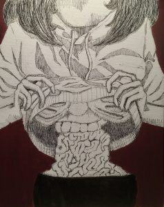The Dali Museum's 2021 Student Surrealist Exhibit Online: Pinellas, Artwork by Hunter Souvannarath My Hunger Consumes Me Gibbs High Teacher: Steve Beverage Grade 12