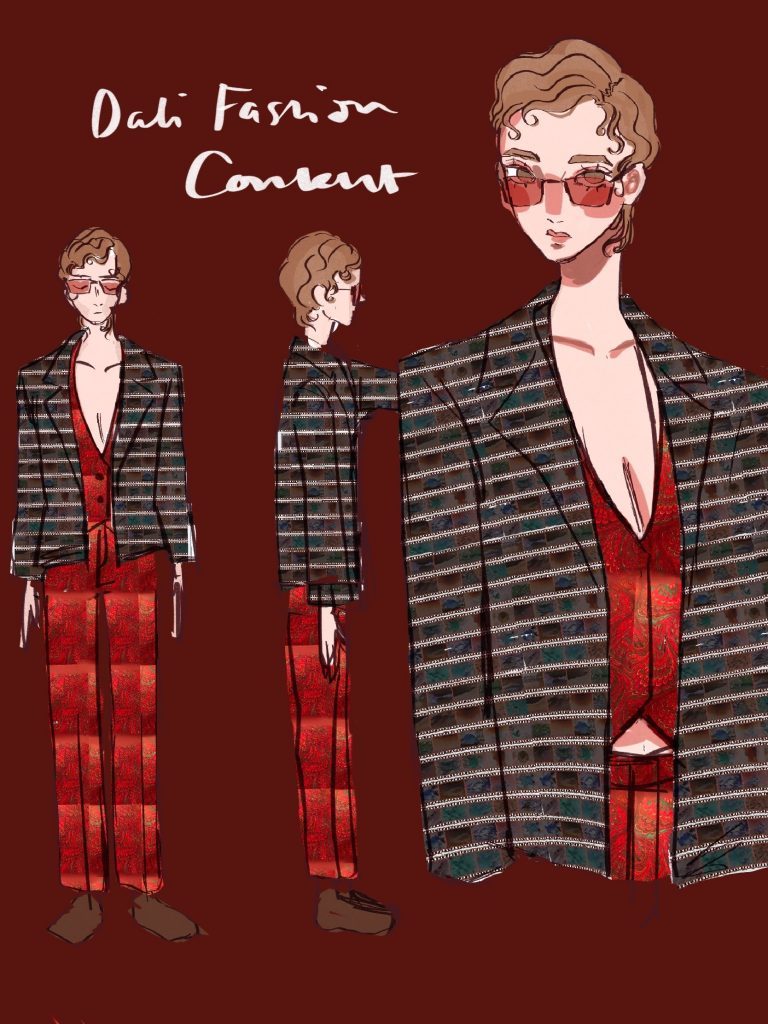 Teen Fashion rendering by Amelie Mcleod